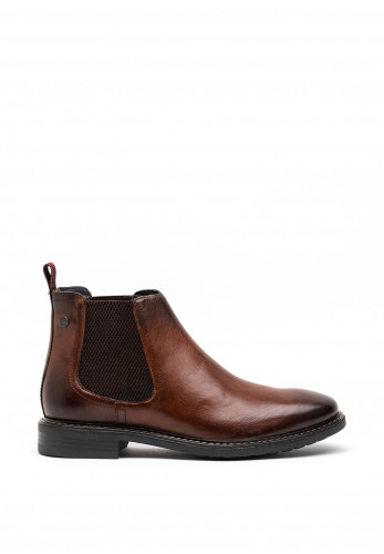 Base London Seymour Slip on Chelsea Boot, Washed Brown