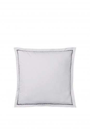 Bedeck 300 Thread Count Square Pillowcase, Midnight & White