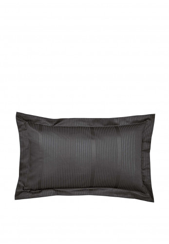 Bedeck 300 Thread Count Combed Cotton Oxford Pillowcase, Charcoal