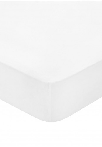 Bedeck 300 Thread Count Egyptian Cotton Fitted Bed Sheet, White