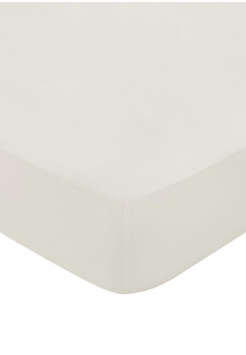 Bedeck 600 Thread Count Egyptian Cotton Fitted Bed Sheet, Cashmere