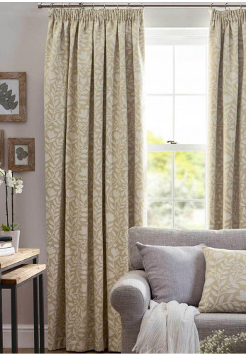 Belfield Eleanor Ready Made Curtains, Pale Ochre