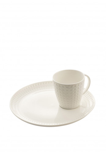 Belleek Living Grafton Cup & Tray, White