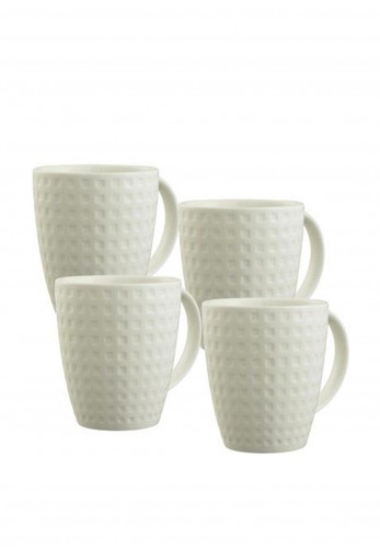 Belleek Living Set of 4 Mugs, White