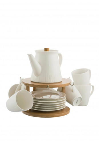 Belleek Living Pekoe 13 Piece Tea Set with Stand