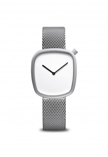 Bering Simple Square Face Watch, Silver