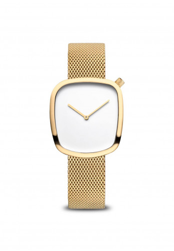Bering Simple Square Face Watch, Gold