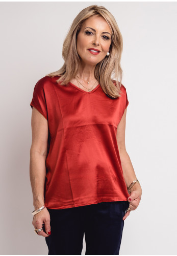 Betty Barclay Silk Front Top, Rust