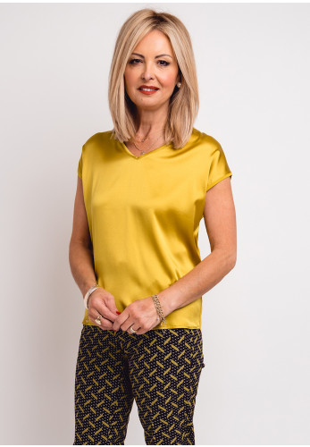 Betty Barclay Silk Front Top, Yellow