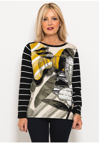 Betty Barclay Embellished Print Jumper, Multi