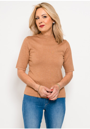 Betty Barclay Short Sleeve Fine Knit Jumper, Brown