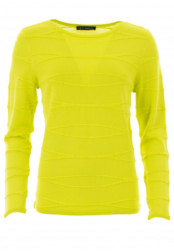 Betty Barclay Textured Fine Knit Jumper, Lime