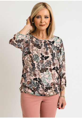 Betty Barclay Floral Relaxed Fit Top, Pink Multi