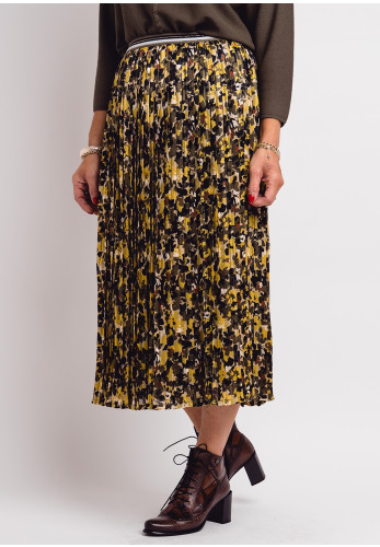 Betty Barclay Floral Pleated Skirt, Green