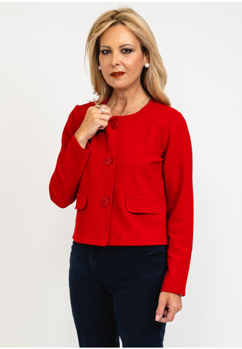 Betty Barclay Short Buttoned Cardigan, Red