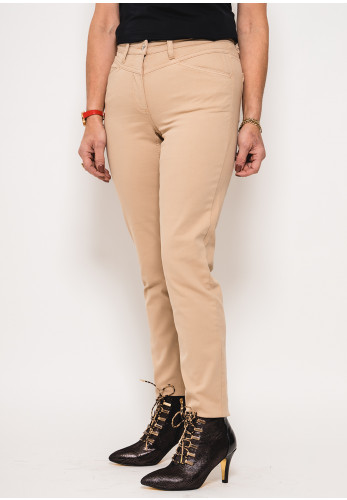 Betty Barclay Mid Rise Slim Fit Jeans, Beige