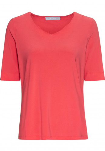 Bianca Emily Relaxed V-Neck T-Shirt, Coral