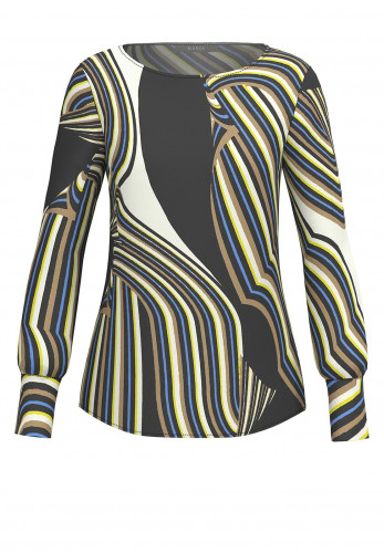 Bianca Anra Abstract Stripe Design Blouse, Multi