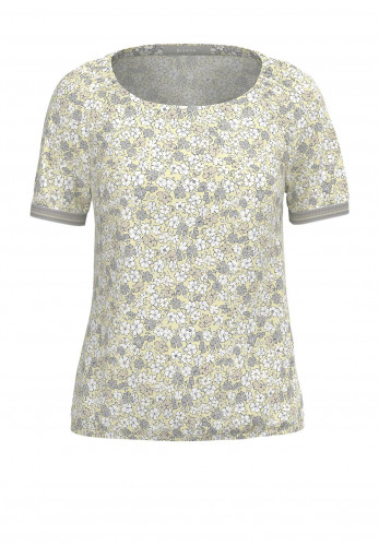 Bianca Riana Ditsy Floral Print Top, Yellow Multi