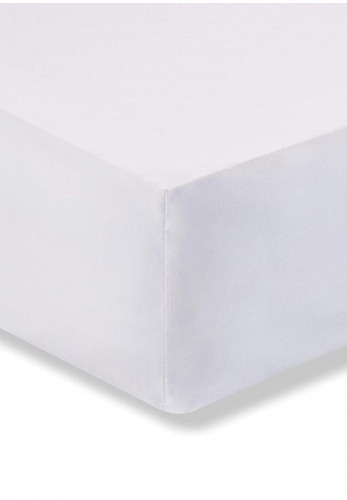 Bianca Home Fitted Egyptian Cotton Sheet, White