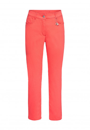 Bianca Denver Cropped Straight Leg Jeans, Coral