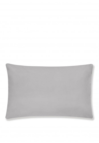 Bianca Home 2 Pack of Standard Egyptian Cotton Pillowcases, Silver