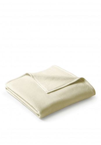 Biederlack Cotton Home Blanket, Cream
