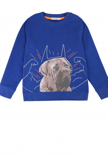 Billybandit Illustrated Long Sleeve Sweater, Blue
