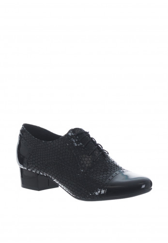 Bioeco by Arka Patent Leather Brogues, Black