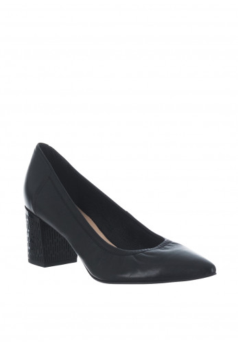 Bioeco by Arka Leather Block Heel Shoes, Black