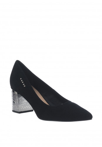 Bioeco by Arka Suede Block Heel Shoes, Black