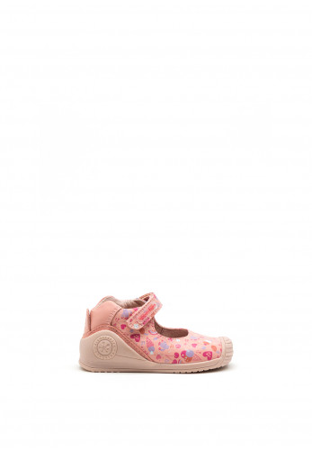 Biomecanics Baby Girls Graphic Print Leather Shoes, Pink