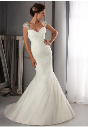Mori Lee Blu 5270 Wedding Dress UK Size 10 Ivory