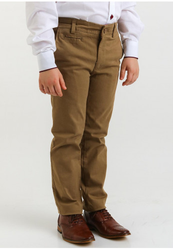 1880 Club Boys Chino Trousers, Brown