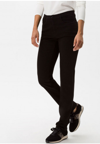 Brax Carola Short Length Straight Leg Jeans, Black