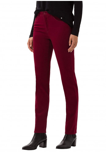 Brax Mary Short Length Slim Leg Jeans, Cranberry