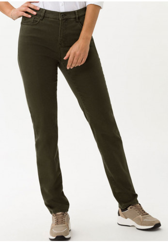 Brax Mary Short Length Slim Jeans, Dark Olive