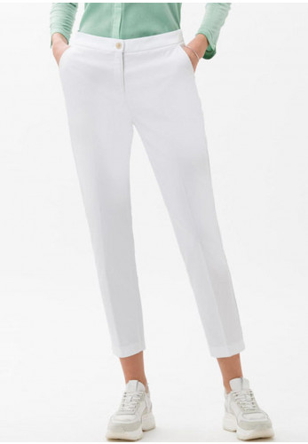 Brax Slim Fit Regular Capri Trousers, White