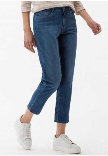 Brax Slim Leg Capri Jeans, Denim Blue