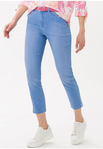 Brax Slim Leg Capri Jeans, Light Blue