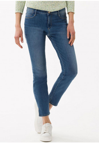 Brax Skinny Regular Leg Jeans, Denim Blue