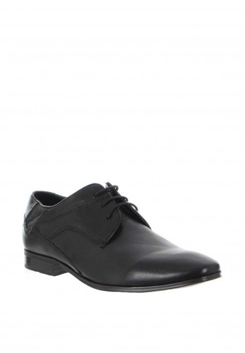 Bugatti Leather Lace Up Derby Shoe, Black