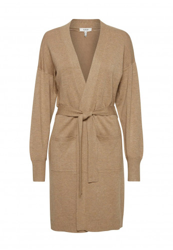 b.young Longline Belted Knit Cardigan, Beige