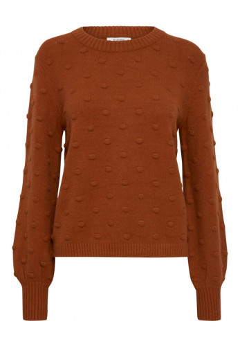 B Young Bubble Knit Jumper, Rust