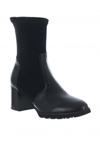 Callaghan Leather Stretch Panel Boots, Black