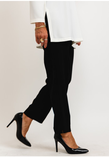 Camelot Lightweight Pleated Trousers, Black