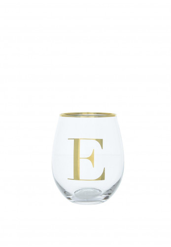 Candlelight Glass Tumbler, Initial E