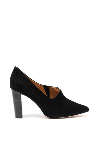 Caprice Suede Pointed Toe High Heel Shoes, Black