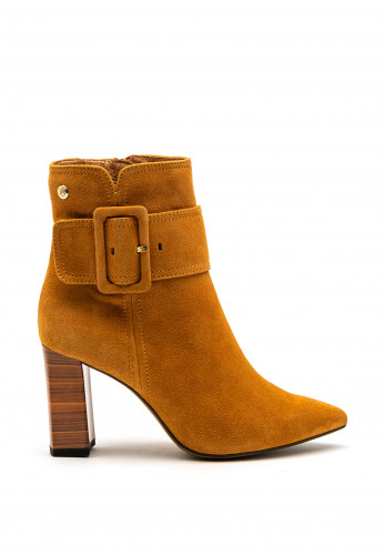 Caprice Suede Pointed Ankle Boot, Mustard