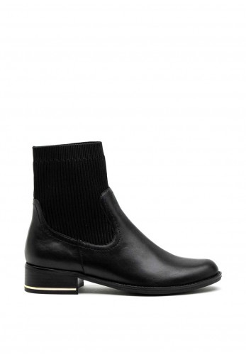 Caprice Sock Ankle Boots, Black